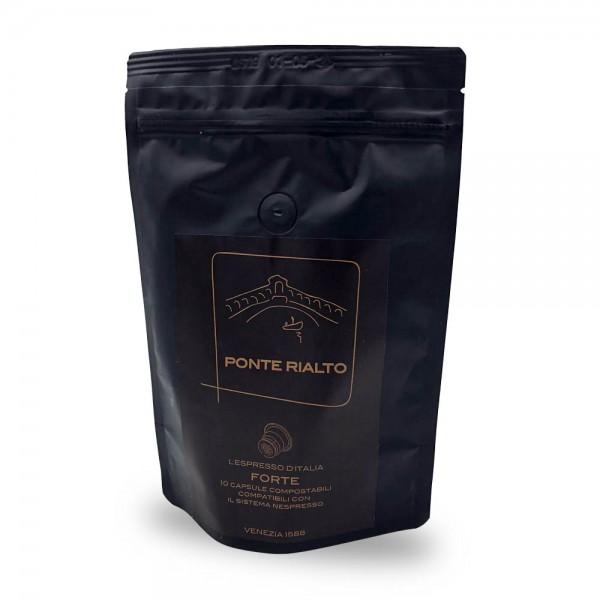 Ponte Rialto Forte Espresso Kaffeekapseln 10 Stück online kaufen bei Kaffee Rauscher