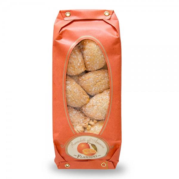 Flamigni Ravioletti al Arancia mit Orangen-Creme 200g online kaufen bei Kaffee Rauscher