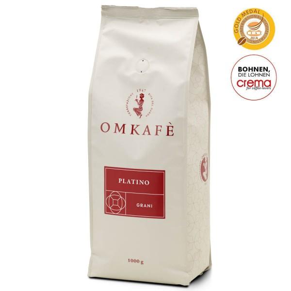 Omkafè Platino Espresso 1000g Bohnen online kaufen bei Kaffee Rauscher