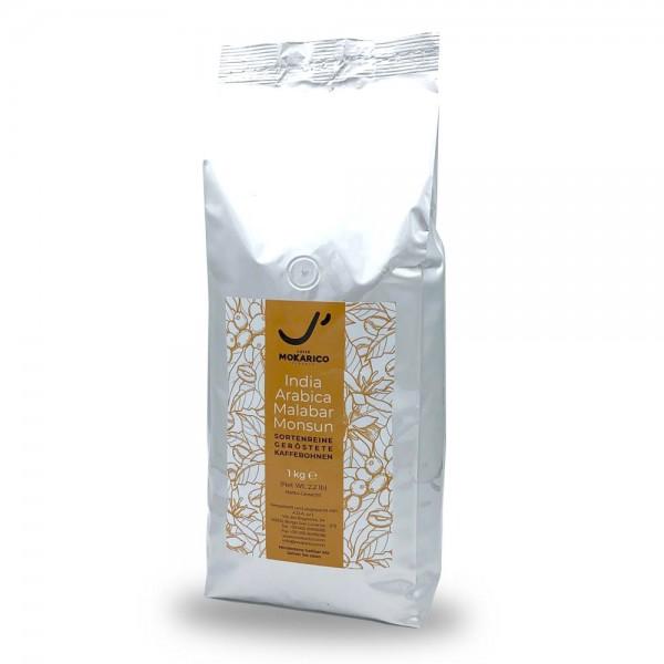 Mokarico India Monsooned Malabar 1000g Bohnen online kaufen bei Kaffee Rauscher