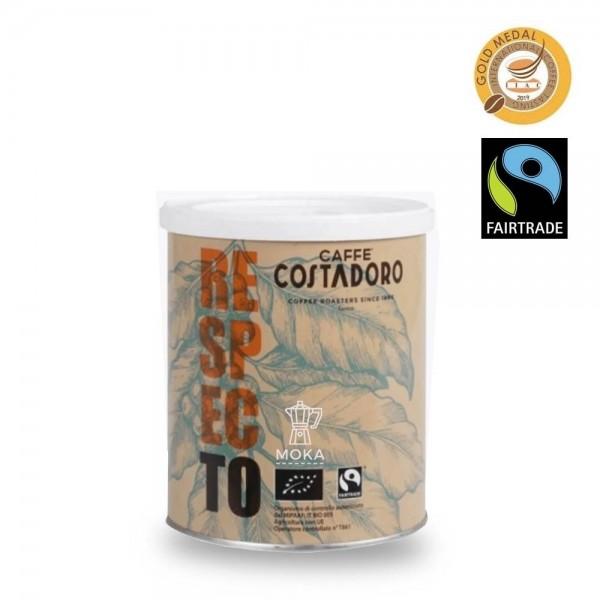 Costadoro Respecto FairTrade Moka 250g gemahlen online bestellen bei Kaffee Rauscher