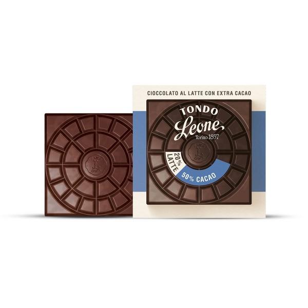 Leone Tondo Milchschokolade 50% Kakaoanteil 75 g online kaufen bei Kaffee Rauscher