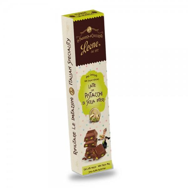 Leone Barretta Schokoladenriegel mit ganzen Pistazien 55 g online kaufen bei Kaffee Rauscher