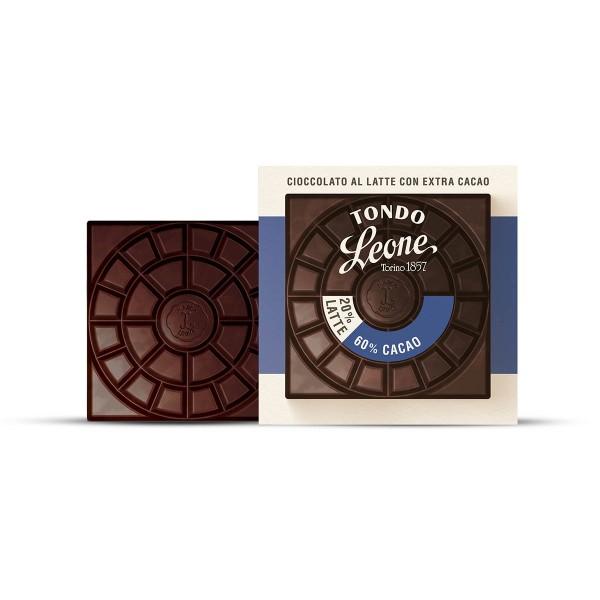 Leone Tondo Milchschokolade 60% Kakaoanteil 75 g online kaufen bei Kaffee Rauscher