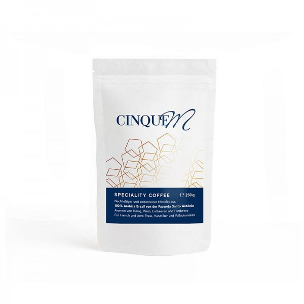 Cinque M Speciality Coffee 100% Arabica Brazil Fazenda Santo Antônio - Bohnen - 250g online kaufen