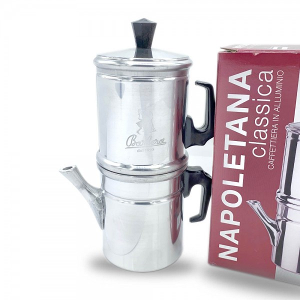 Maccinetta Napoletana - neapolitanischer Herdkocher aus Aluminium für drei Tassen online kaufen