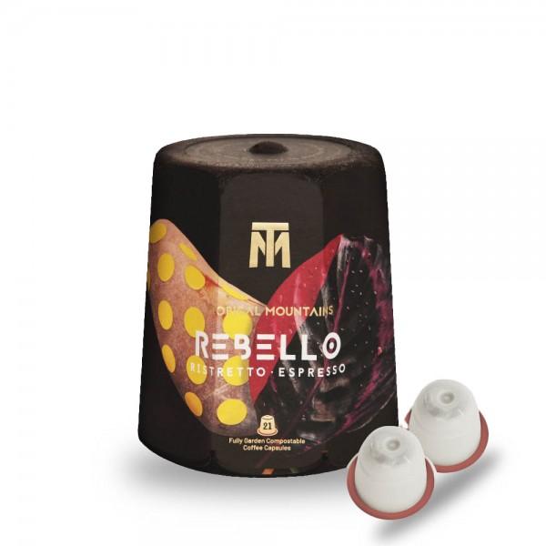 Tropical Mountains Rebello Espresso Fair Trade Kaffee-Kapseln 21 Stück