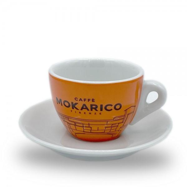 Caffè Makorico Kaffeetasse Cappuccinotasse orange online kaufen