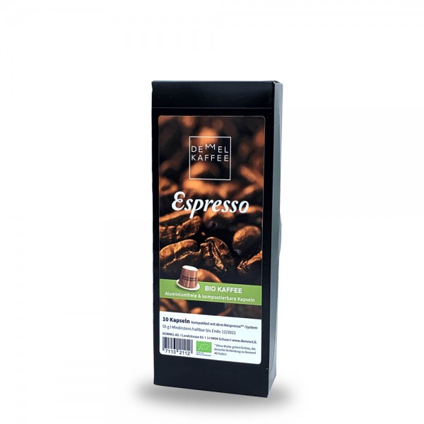 Demmel Kaffee Espresso Kapseln für Nespresso®* 10 Stück online kaufen bei Kaffee Rauscher