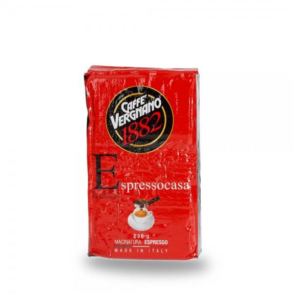 Caffè Vergnano 1882 Espresso Casa 250g gemahlen