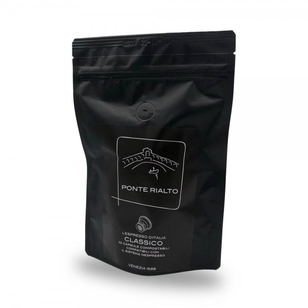 Ponte Rialto Classico Espresso Kaffeekapseln 10 Stück online kaufen bei Kaffee Rauscher