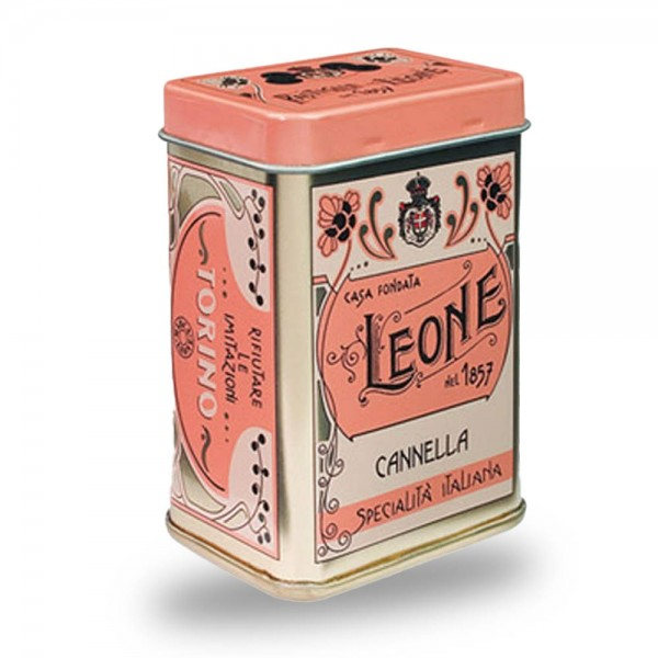 Leone Pastillen Zimt 45 g Nostalgie-Dose online kaufen bei Kaffee Rauscher