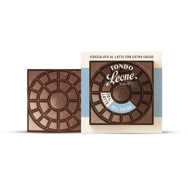 Leone Tondo Milchschokolade 40% Kakaoanteil 75 g online kaufen bei Kaffee Rauscher