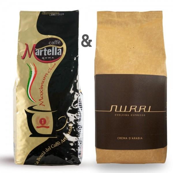 Espresso Set Roma vs. Napoli - Martella vs. Nurri 2 kg online kaufen bei Kaffee Rauscher