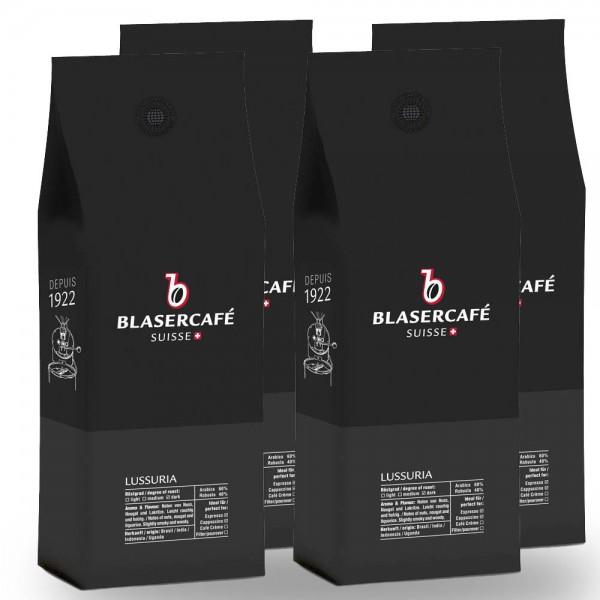 Blasercafé Lussuria Espresso-Mischung 4 x 1.000g Bohnen AKTION