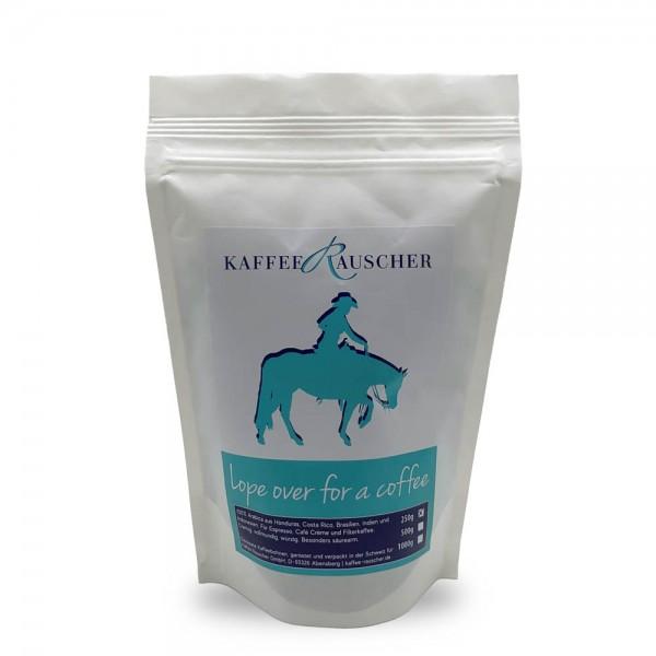 Lope over for a coffee 250g Bohnen Reiterkaffee online kaufen bei Kaffee Rauscher