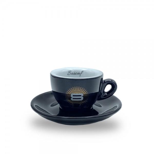 Saicaf Espressotasse schwarz plus Untertasse online kaufen