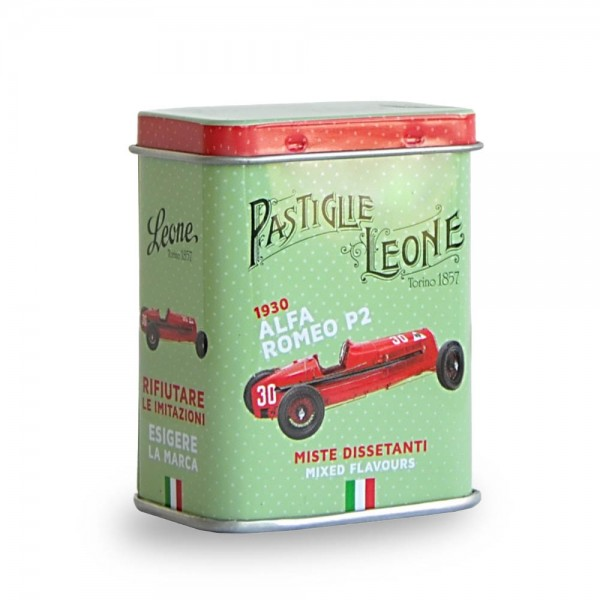 Leone Pastillen gemischte Früchte 30 g Pastiglie Alfa Romea Dose online kaufen bei Kaffee Rauscher