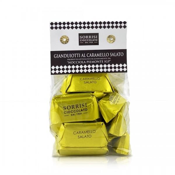 Sorrisi Gianduiotti al Caramello salato 200g Beutel online kaufen bei Kaffee Rauscher