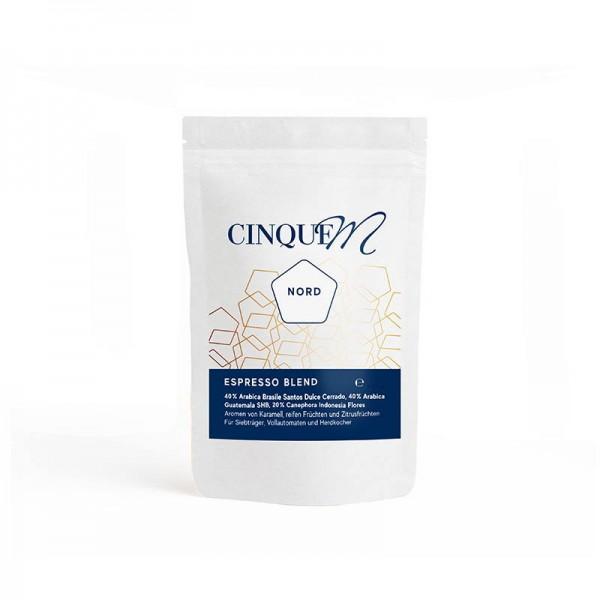 Cinque M Espresso Blend Nord - 250g Bohnen online kaufen