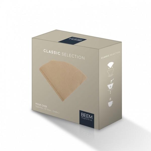 BEEM Papierfilter Pour Over Filtertüten Grösse 2 100 Stück online kaufen bei Kaffee Rauscher