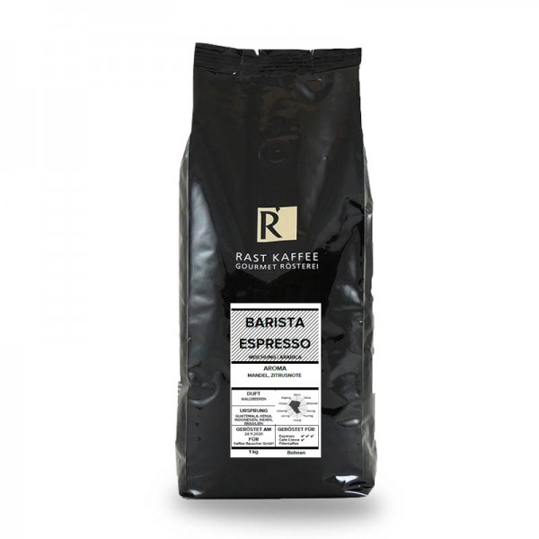 Rast Kaffee Barista Espresso 1000g Bohnen online kaufen bei Kaffee Rauscher