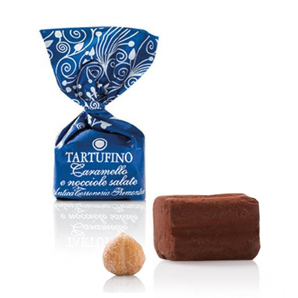 Antica Torroneria Tartufo dolce nociole salate Schokoladentrüffel